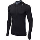 Aclima LightWool Hoodie Men jet black/iron gate